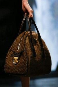 3ee0b1bcc8b4 Prada Brown Tweed Bowler Bag - Fall 2013  handbags  prada  Pradahandbags