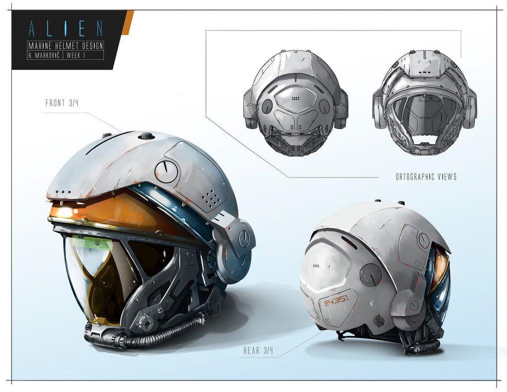 Alien Helmet Design By Raddick11 Concept Fantasy In 2019