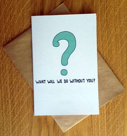 Farewell Card With Envelope What Will We Do By Postlovedesigns