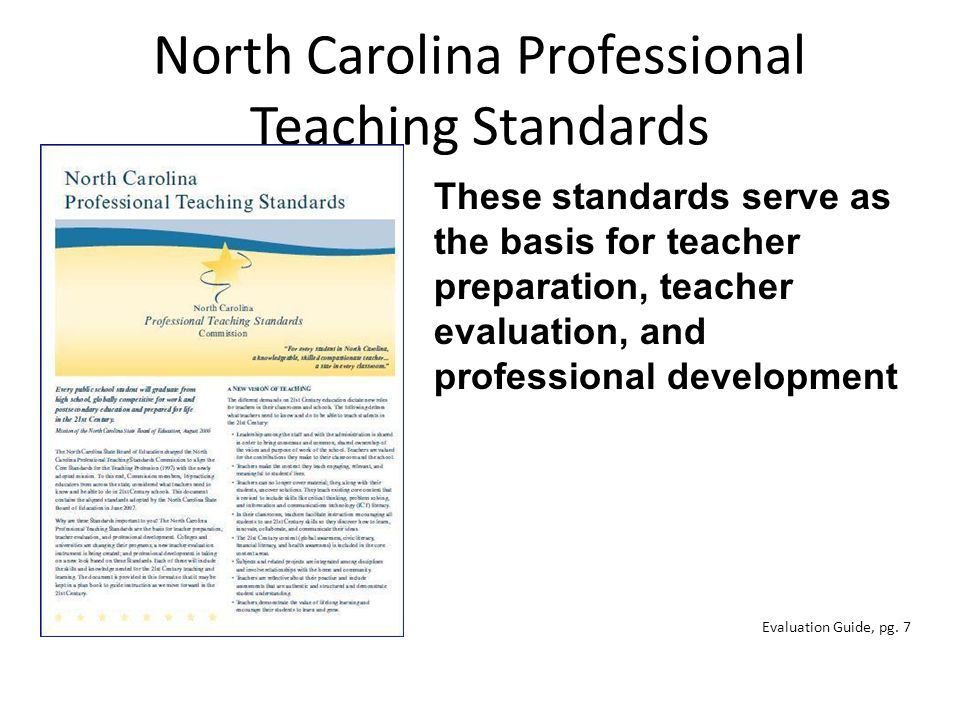 North Carolina Professional Teaching Standards These Standards Teaching Standards Teaching Education Standards