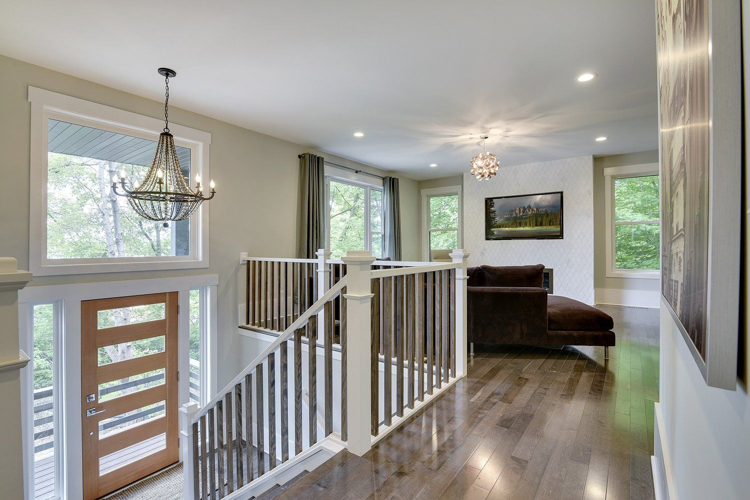 Split Level Home Entry Way Amp Living Room Design By