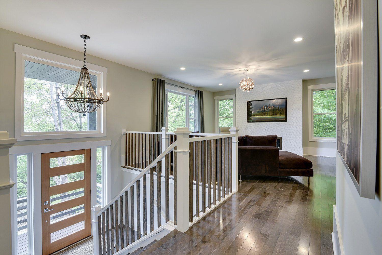 Split Level Home Entry Way Amp Living Room Design By