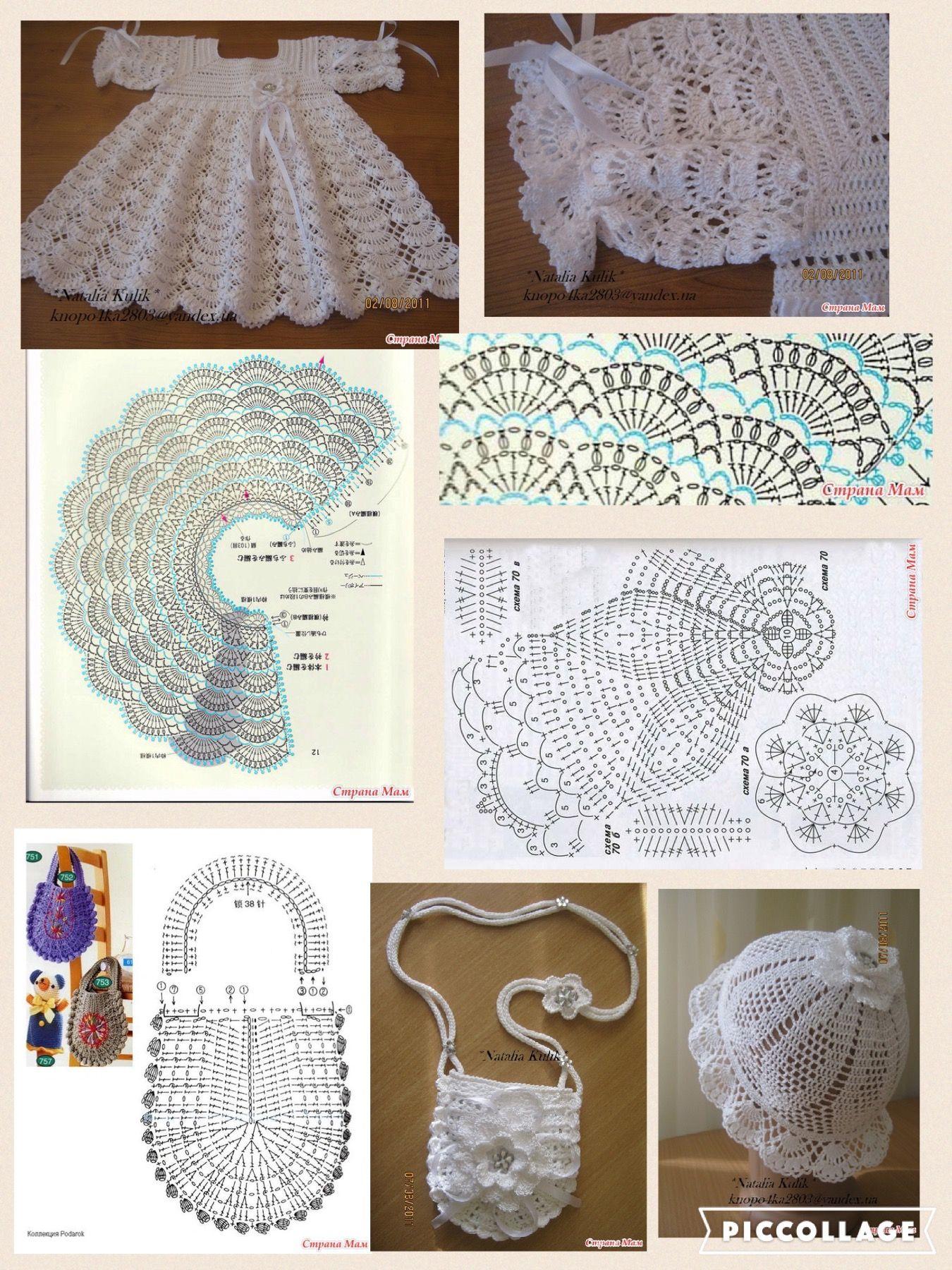 Pin de Marielos Castillo en Vestidos, blusas y faldas niña crochet ...