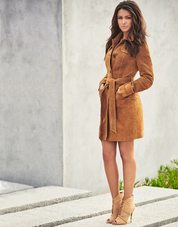 bc3b16117fe Lipsy Love Michelle Keegan Suede Belted Coat | Coats and Jackets ...