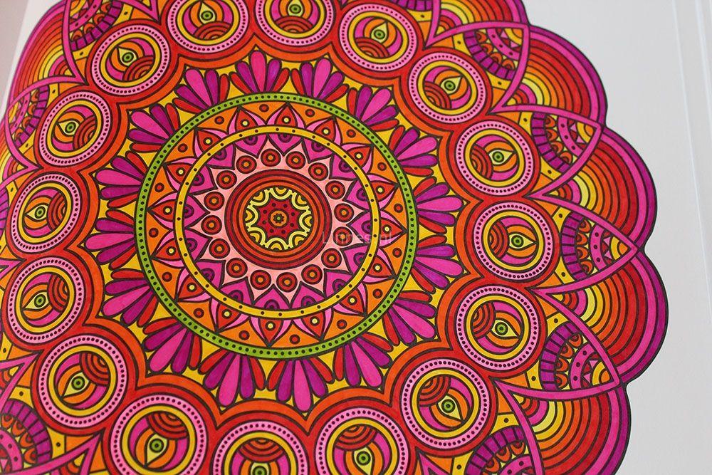 mandala kleurplaten ingekleurd