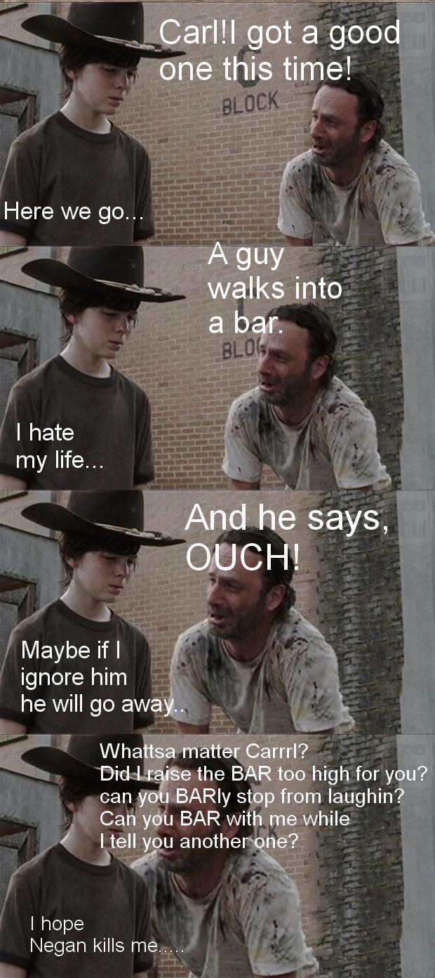 Rick And Carl Funny Meme The Walking Dead With Images Walking