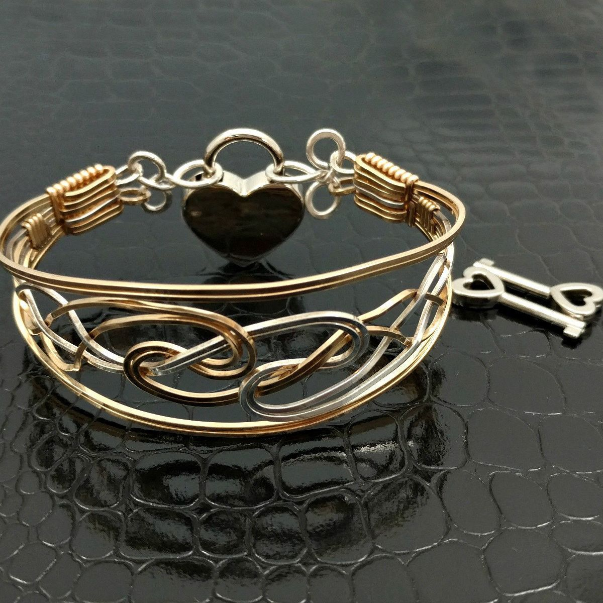 ARDAN Locking or Traditional Day Bracelets, Wire Wrapped w/ SS Ring ...