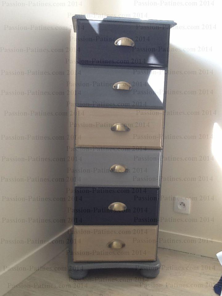 meuble 6 tiroirs -3 couleurs | meubles peints | pinterest | tiroir ... - Renover Meuble En Pin