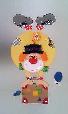 Fensterbild Clown Steht Kopf Fasching Karneval Dekoration