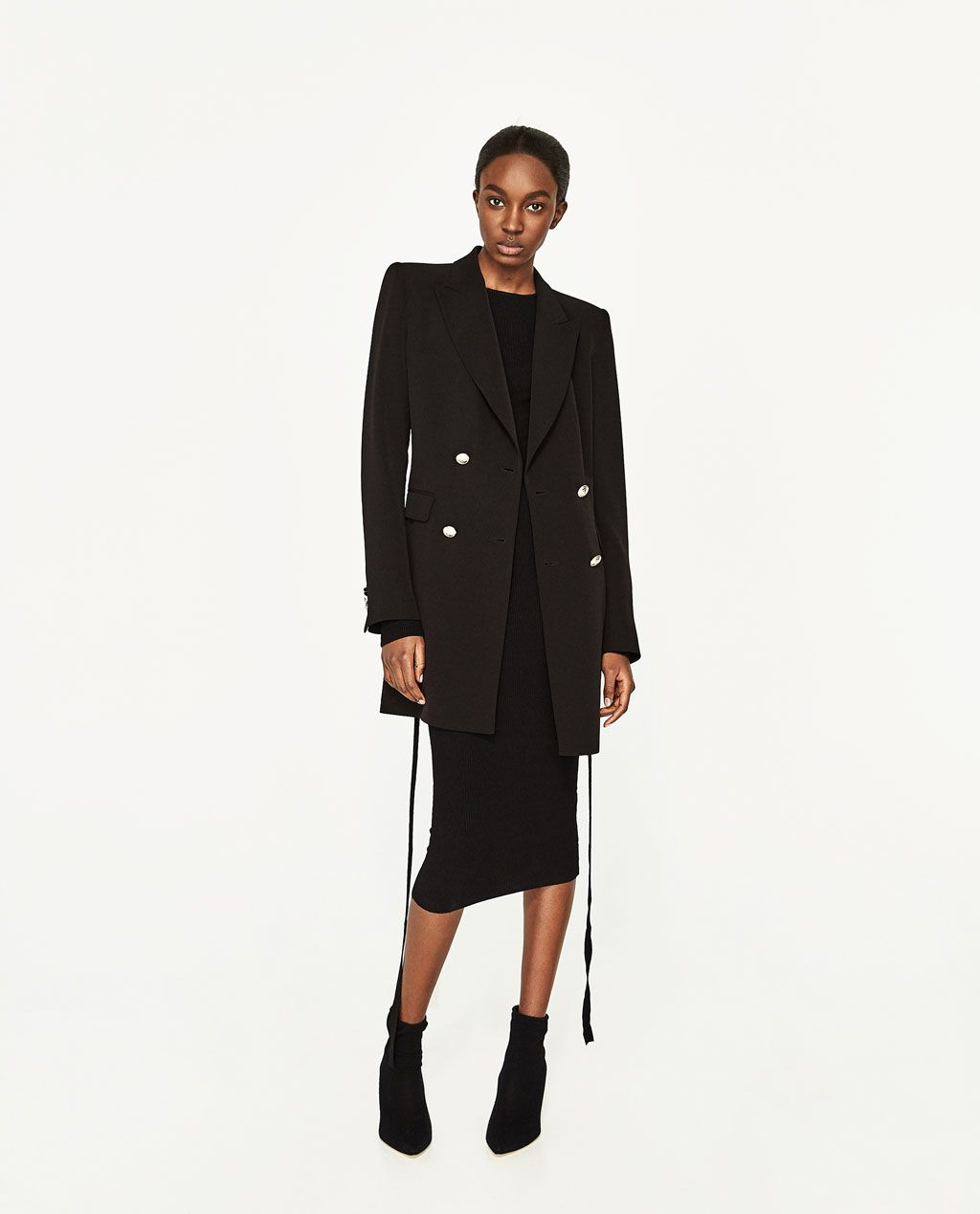 DOUBLE-BREASTED JACKET WITH BUTTON FASTENING-BLAZERS-WOMAN | ZARA ...