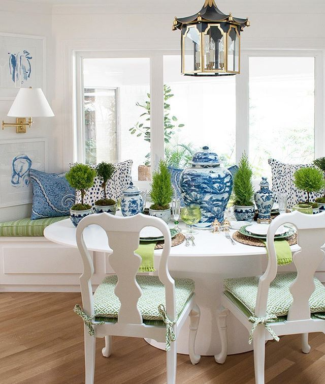 I Am So Impressed With Thepinkpagoda's Stunning Oneroomchallenge Fascinating Blue White Dining Room Design Ideas