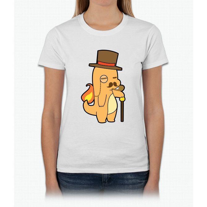 Charmander Gentlemon Pikachu Womens T-Shirt