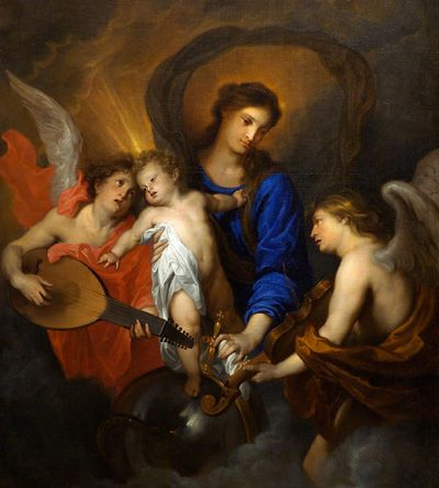 Virgin and Child with angels, Anthony van Dick (1599-1641), Netherlands
