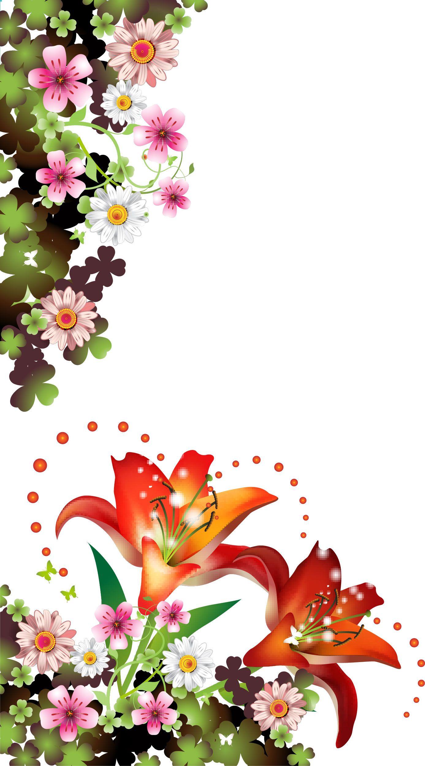 Border Flower Bordes Pinterest Flowers Beautiful Flower