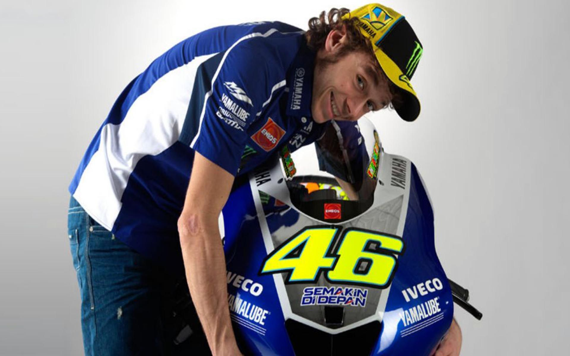 Wallpaper iphone valentino rossi - Valentino Rossi Ducati Bike Motogp World Championship Hd Desktop 1920 1279 Valentino Rossi Wallpaper