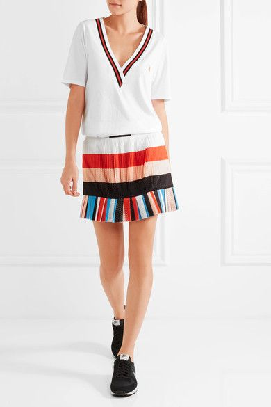 0b5f22d18 P.E NATION - The Heat pleated striped mesh mini skirt | Tennis ...