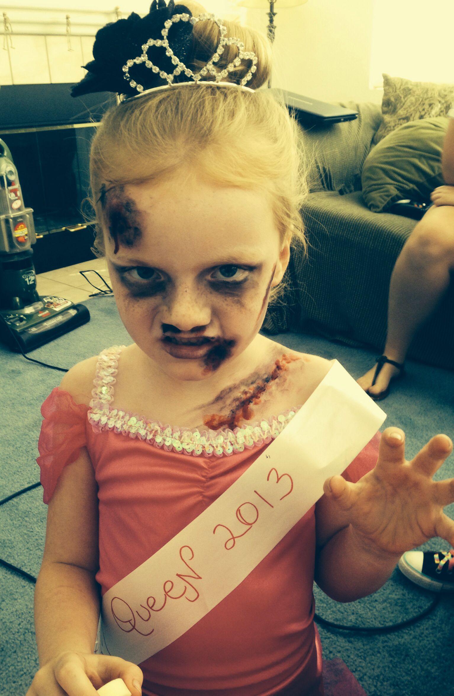 Kids zombie prom queen costume