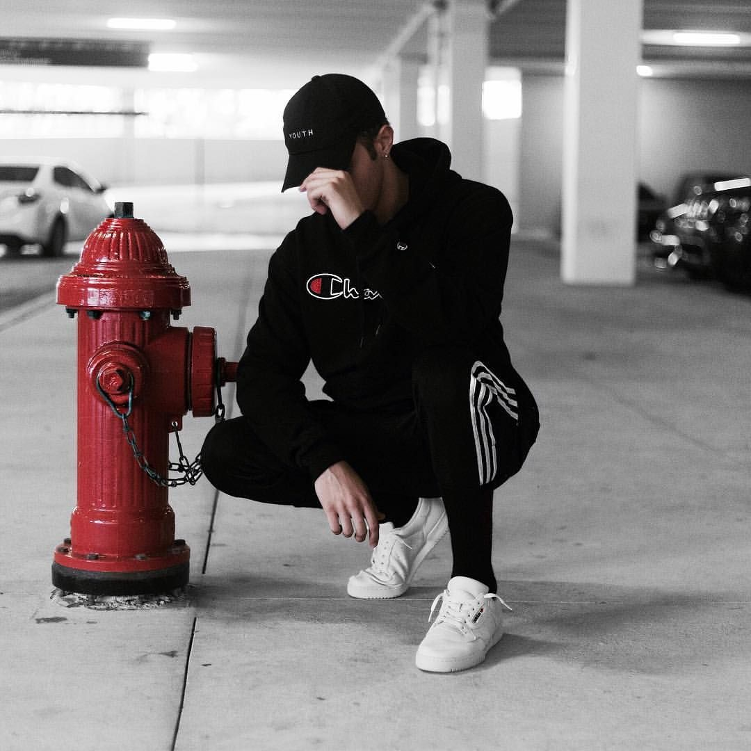 2a98402b6ec6 Champion Hoodie Streetwear Outfit by  edriancortes