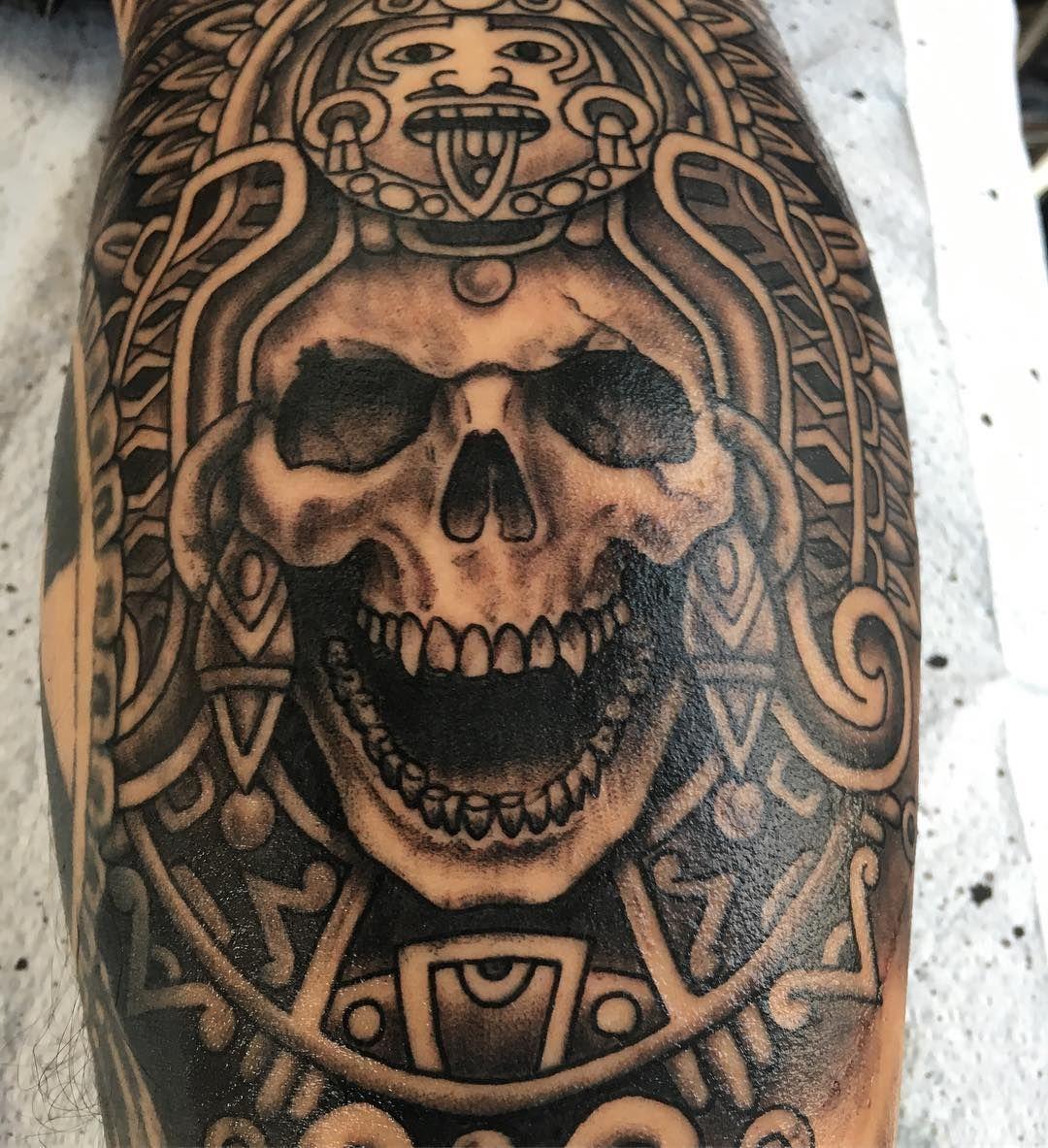 aztec tattoo mexican tattoo pinterest tattoo aztec tattoo designs and mexican tattoo. Black Bedroom Furniture Sets. Home Design Ideas