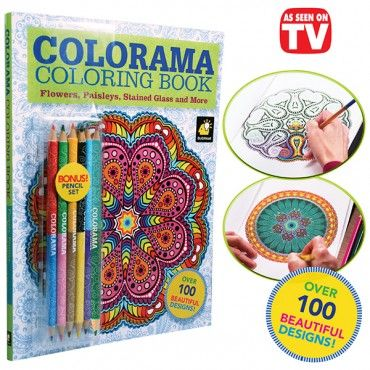 Colorama Coloring Book Coloring Books Book Flowers Color