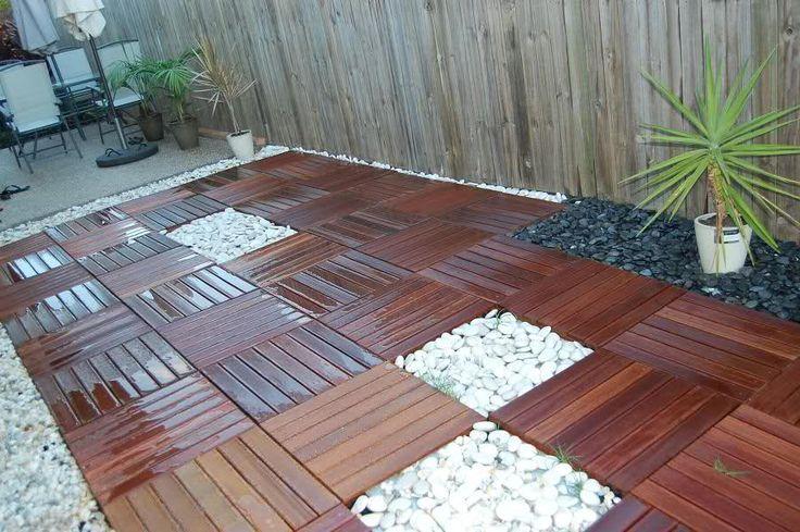 wood tile patio deck
