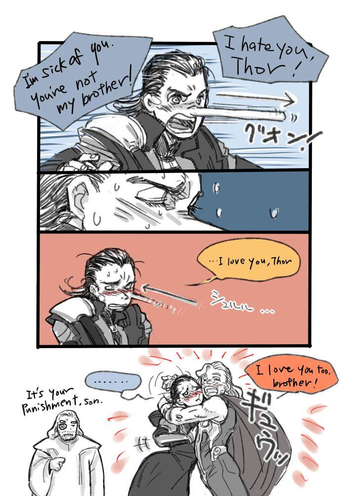 Loki's Pinocchio-style punishment   Marvel and DC   Loki thor