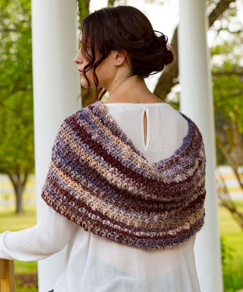 Spiced Up Shoulder Cozy | Red Heart | Crochet | Pinterest | Cozy ...