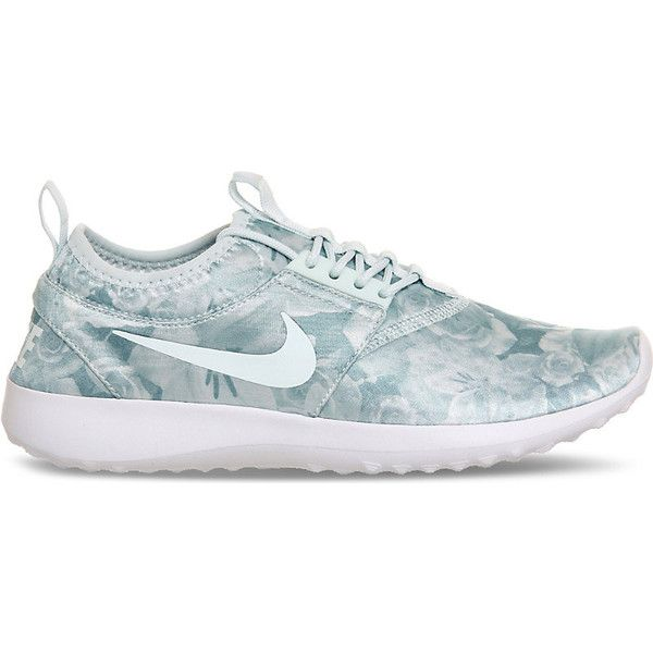 Nike Juvenate floral print mesh trainers ($94) ❤ liked on