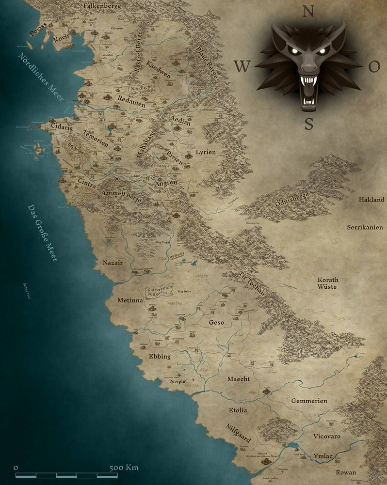 The Witcher Karte By Khorgoroth Fantasy World Map Fantasy Map