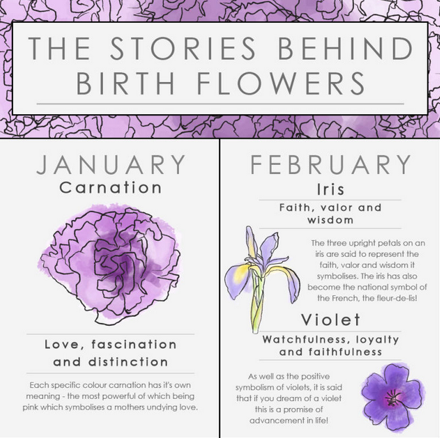 Pin by Eleniel on A Calendar of Flowers Birth flowers