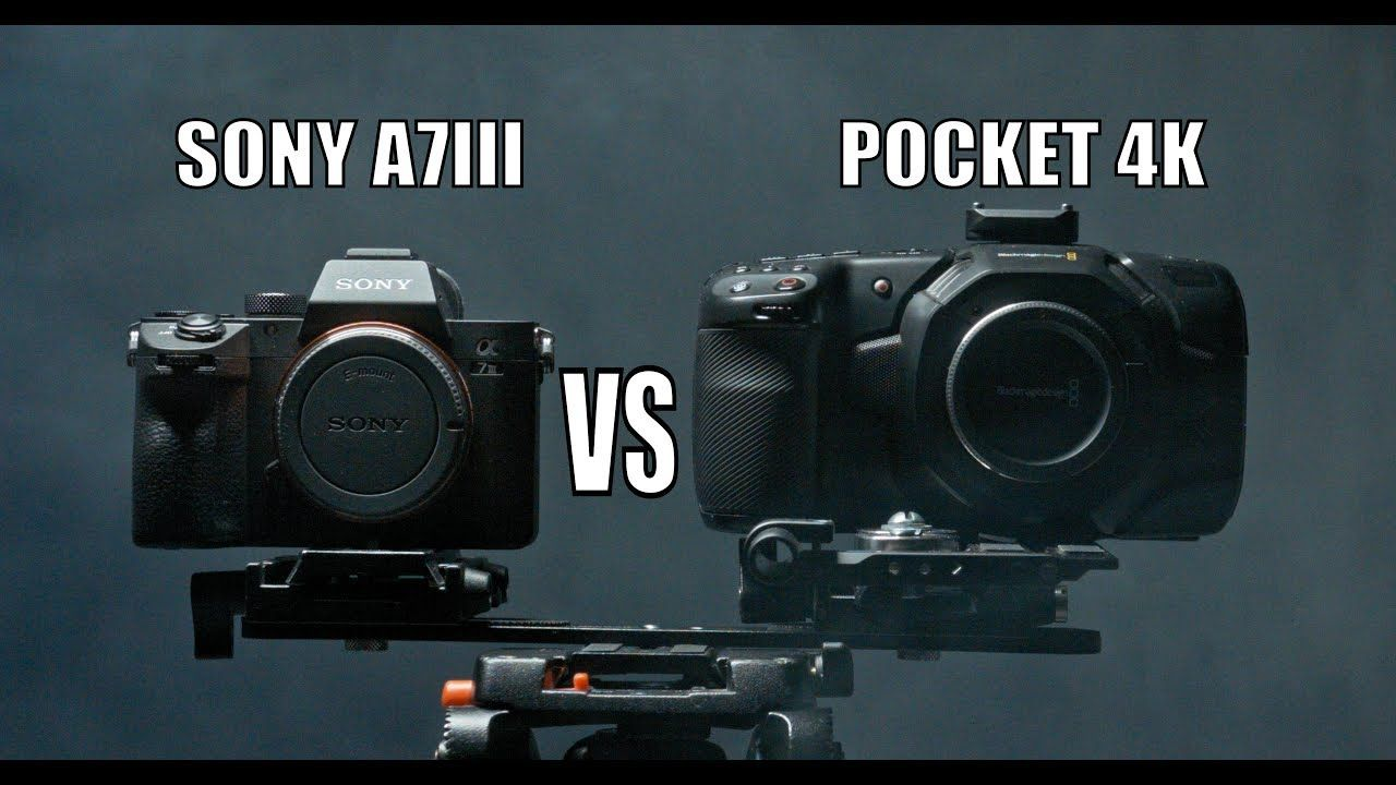 Blackmagic Pocket Cinema Camera 4k vs Sony A7iii