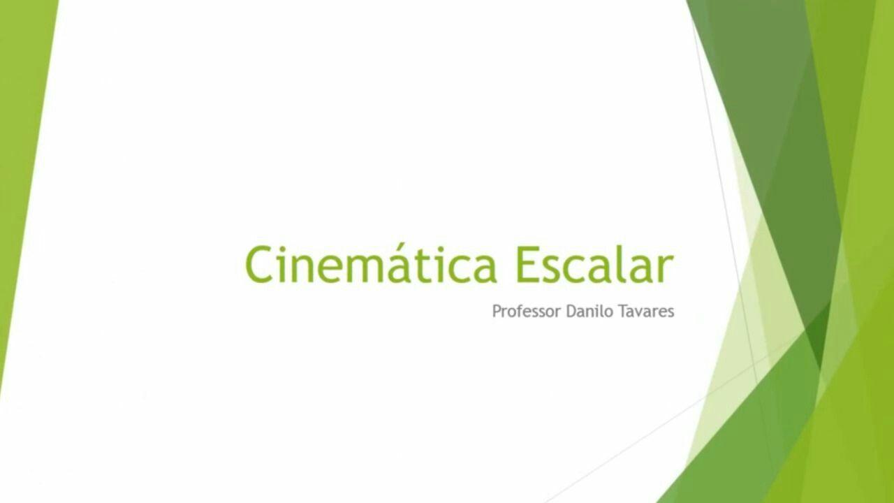 Cinemática escalar      Ordem de grandeza; Unidade de medida; Noção científica ;  Sistema internacional de medidas.