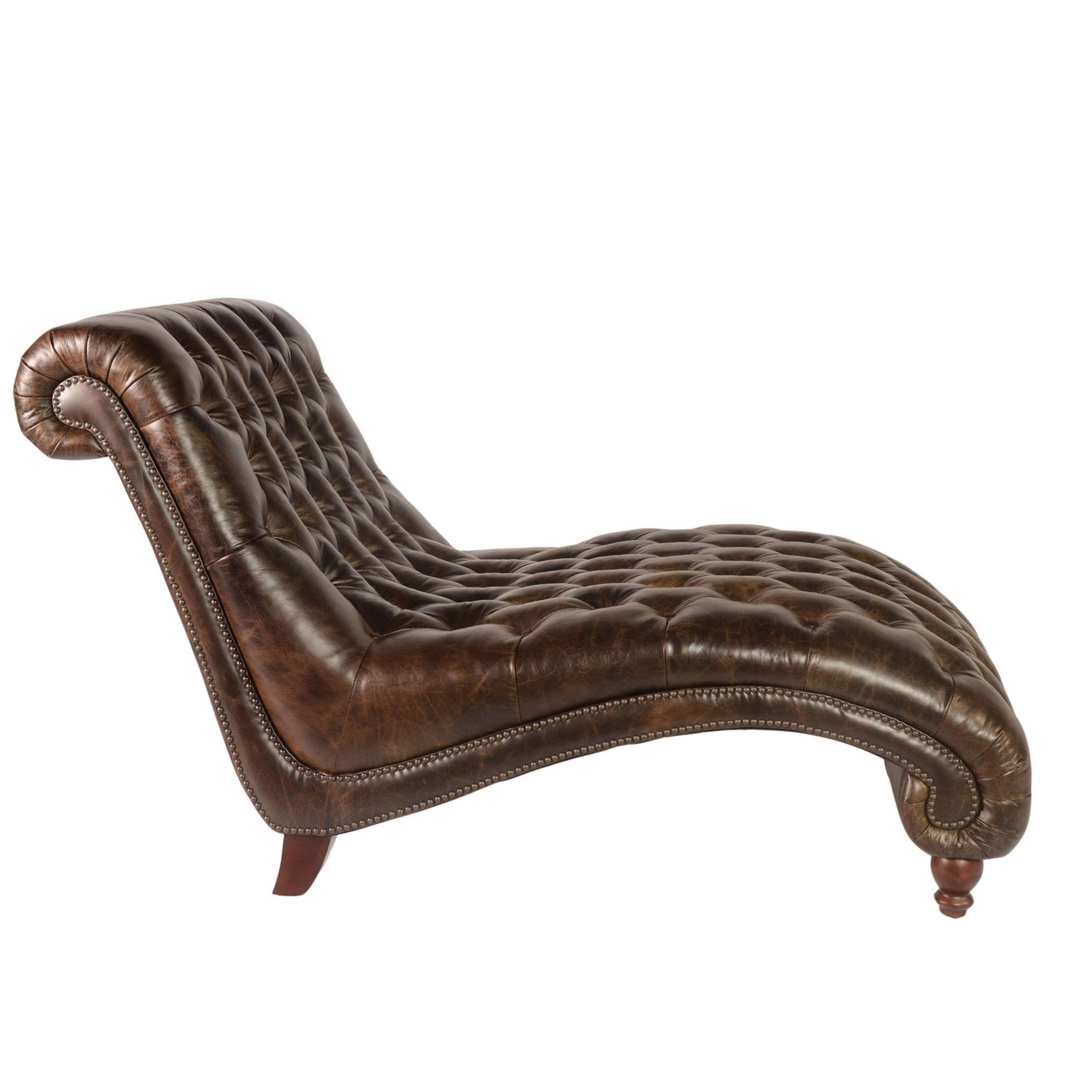 Lazzaro Leather Cathay Brompton Chocolate Chaise and Half (Dark Brown Leather Tufted Chaise)  sc 1 st  Pinterest : chocolate chaise - Sectionals, Sofas & Couches
