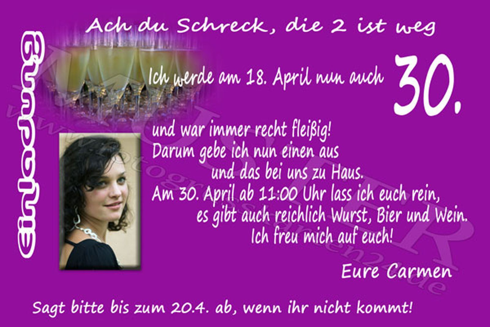 Einladungskarten Geburtstag Geburtstag Einladungskarte