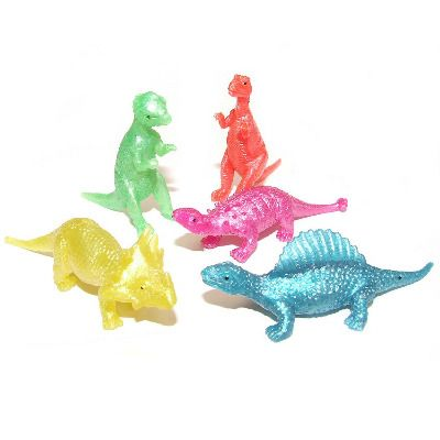 12 LARGE Dinosaur Sticky Novelties Stretchy Party Bag Fillers Favours Deluxe