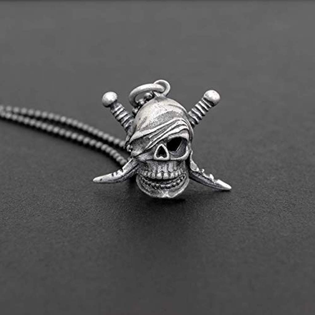 Sterling Silver Squelette Breloque Pendentif