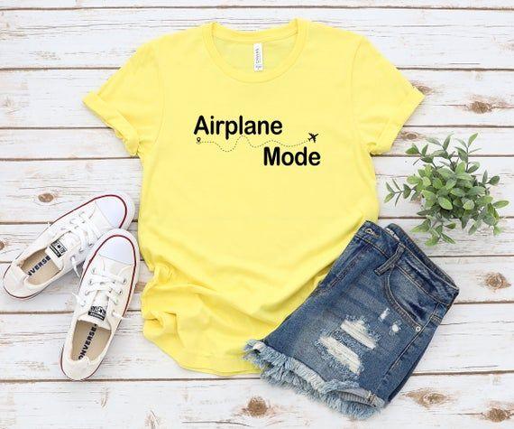 Airplane Mode tshirt womens tshirt vacation mode vacay | Etsy