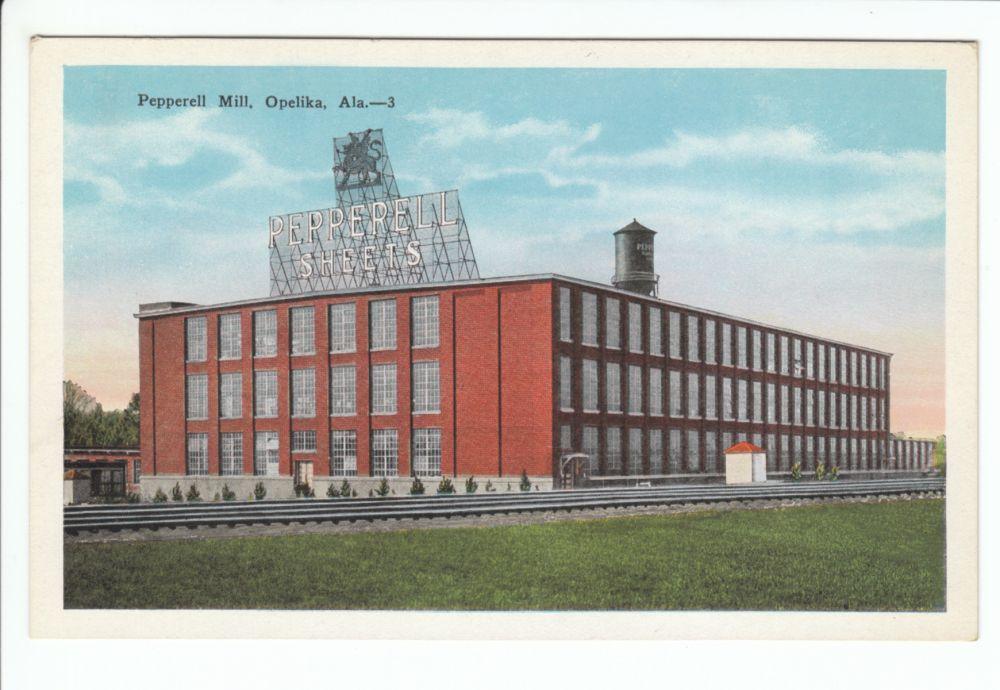 Pepperell Mill Opelika Alabama Al 1920 S Cotton Factory Opelika