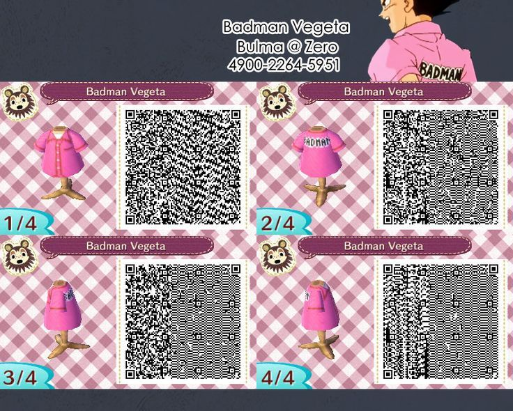 Vegeta Bad Man Qr Code Animal Crossing Qr Animal Crossing Qr