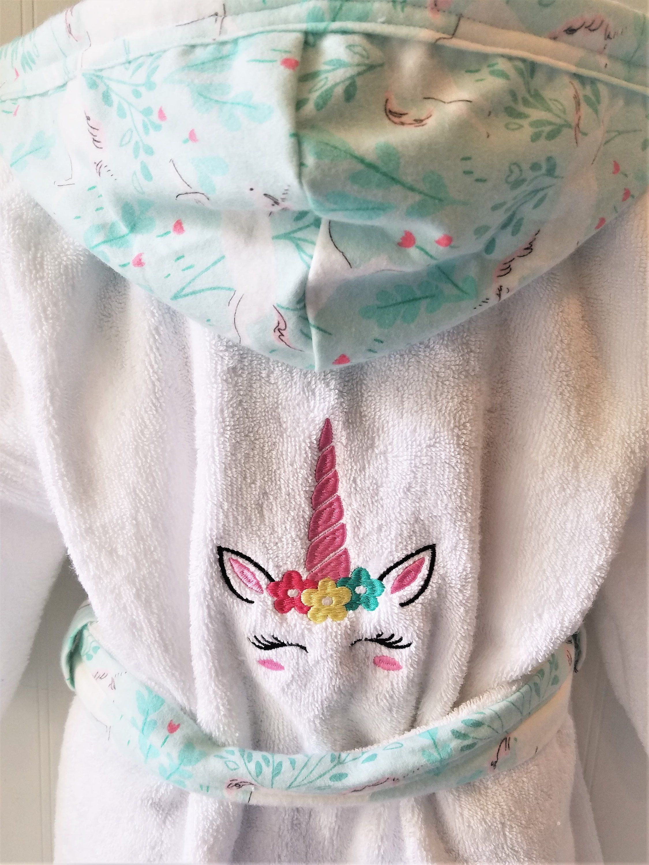 Personalized-Girls-Bath-Robes-Bathrobes-Pink-Unicorn -Child-Beach-Hooded -Towels-Swimwear-Terry-Beach-Cover-Up-Baby-Toddler-Kids-Teen-Gift by tanjadlyn  on ... 591e496af
