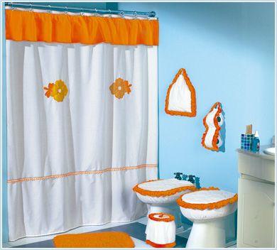 Cortina elaborada en tela | Cortinas de baño | Pinterest | Curtains ...