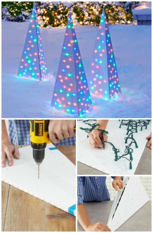 20 impossibly creative diy outdoor christmas decorations i absolutely love decorating for christmas i also love changing up my decorations from time to - Lighted Christmas Tree Lawn Decoration