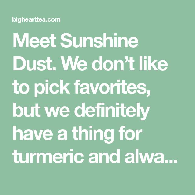 Recipe: Sunshine Dust Two Ways Meet Sunshine Dust.