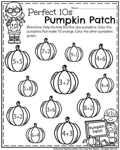 October Kindergarten Worksheets Planning Playtime Kindergarten Worksheets Halloween Worksheets Kindergarten Math Activities