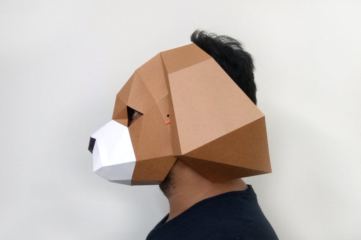 Diy Spaniel Mask 3d Papercraft Sponsored Folder Bone Scorer