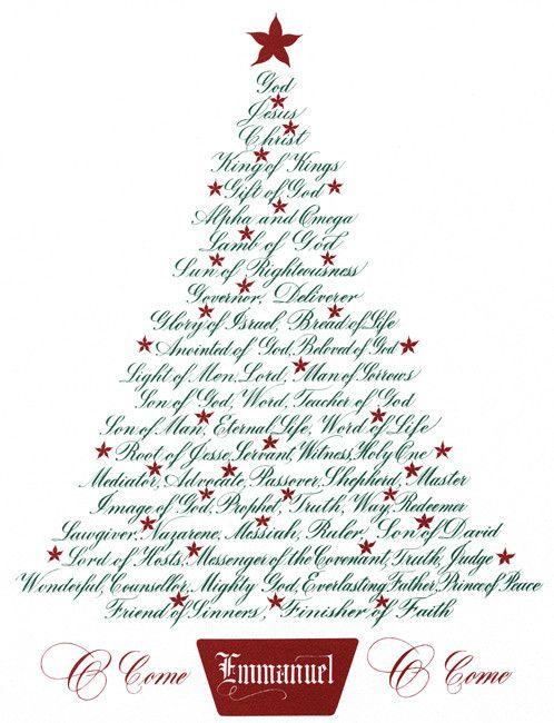 Christmas Tree Names Of Jesus Christmas Tree Cards Christian Christmas Diy Christmas Cards