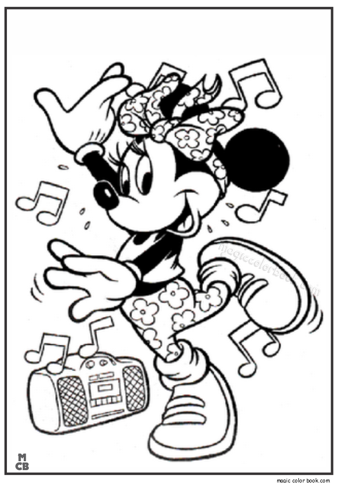 Minnie Mouse Hip Hop Dance Coloring Pages Dance Coloring Pages