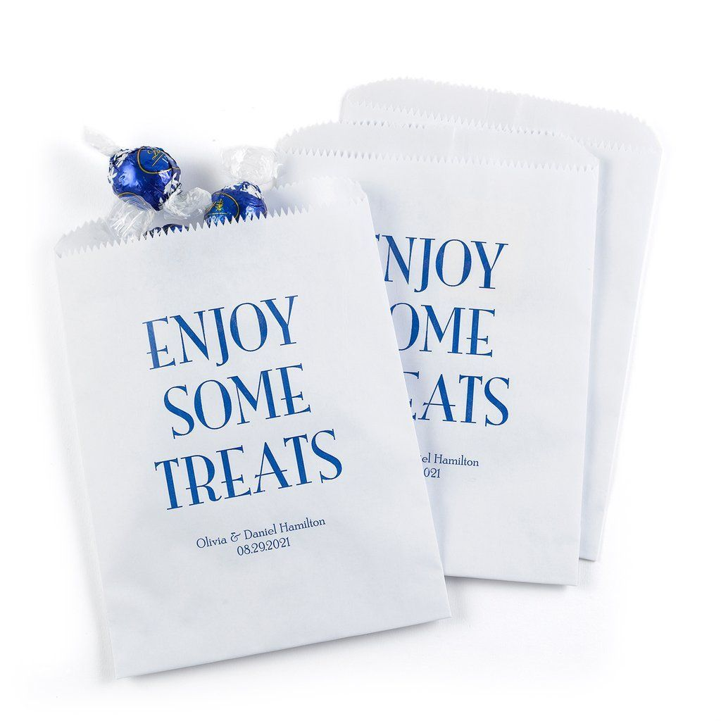 Enjoy Some Treats Favor Bag - Couples can send treats home with ...