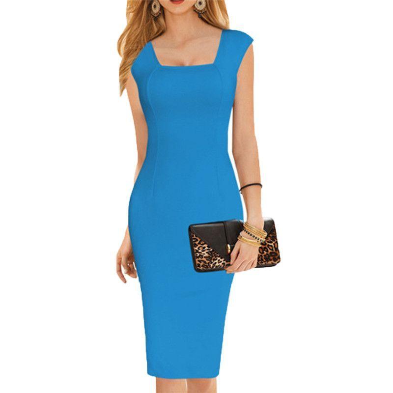 Knee Length Pencil Dress