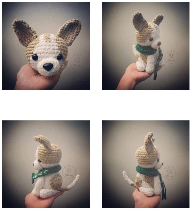Patrón gratis amigurumi de perro chihuahua | Crochet | Pinterest ...
